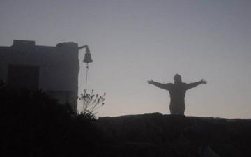 Lever du soleil depuis Oros (sommet d'Egine)